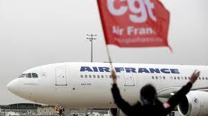 stakingen bij air france