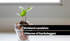 Dividend aandelen Uitkeren of herbeleggen