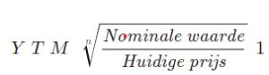 YTM formule afbeelding 1