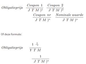 contante waarde formule YTM afbeelding 2