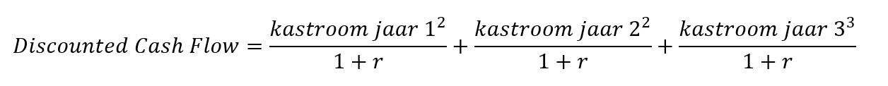 formule discounted cashflow